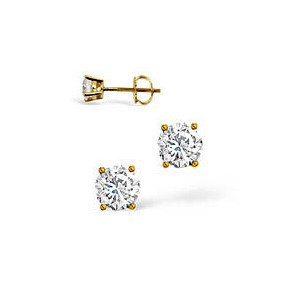 Photo of g-H/Si Stud Earrings 0.30CT Diamond 18KY Jewellery Woman