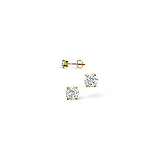 G-H/Si Stud Earrings 0.30CT Diamond 18KY