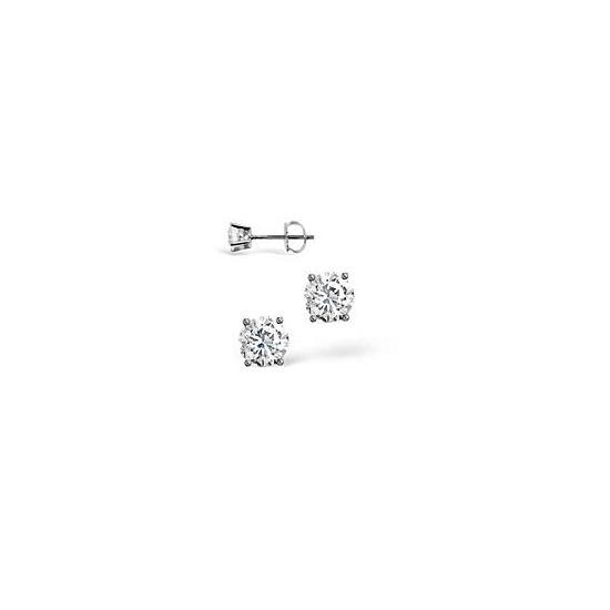 G-H/Si Stud Earrings 0.30CT Diamond 18KW