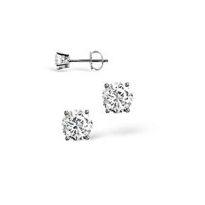 Photo of H/I Colour Stud Earrings 0.30CT Diamond 18KW Jewellery Woman