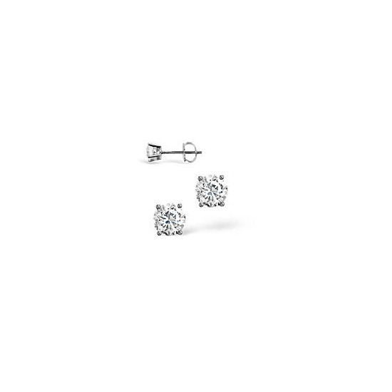 H/I Colour Stud Earrings 0.30CT Diamond 18KW