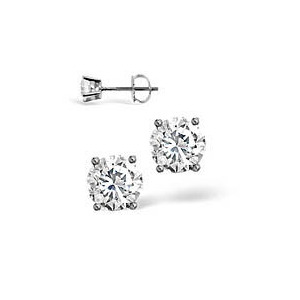 Photo of g-H/Si Stud Earrings 0.50CT Diamond 18KW Jewellery Woman