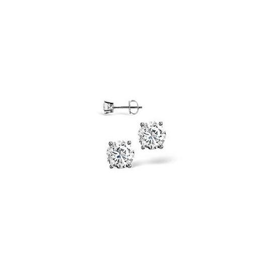 G-H/Si Stud Earrings 0.50CT Diamond 18KW