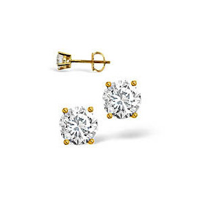 Photo of g-H/Si Stud Earrings 0.50CT Diamond 18KY Jewellery Woman