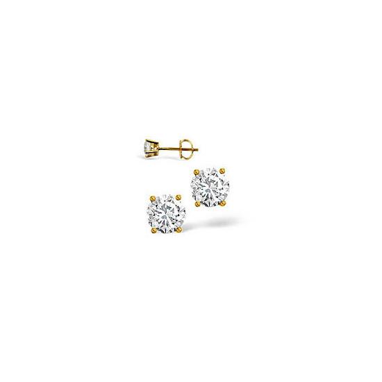 G-H/Si Stud Earrings 0.50CT Diamond 18KY