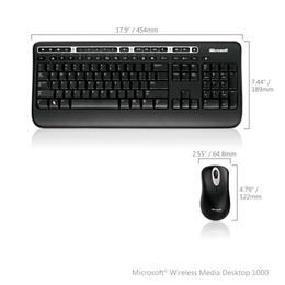 Microsoft Wireless Media Desktop 1000 Reviews