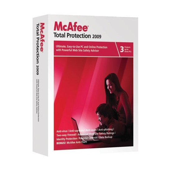 McAfee Total Protection 2009 3 user version