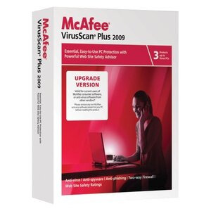 Photo of McAfee VirusScan Plus 2009 3-User Software