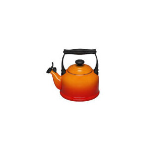 Photo of Le Creuset Stoneware Whistling Traditional Kettle - Volcanic Kitchen Accessory
