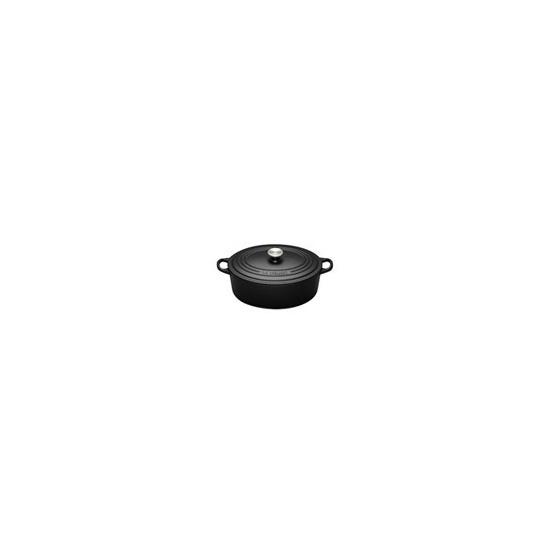 Le Creuset Oval Casserole Dish 25cm - Satin Black
