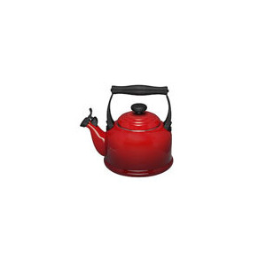 Photo of Le Creuset Stoneware Whistling Traditional Kettle - Cerise Cookware