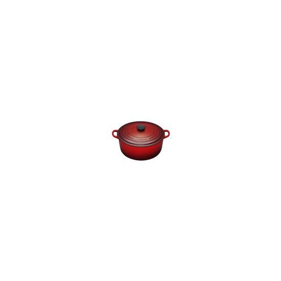 Le Creuset Round Casserole Dish - 20cm - Cerise
