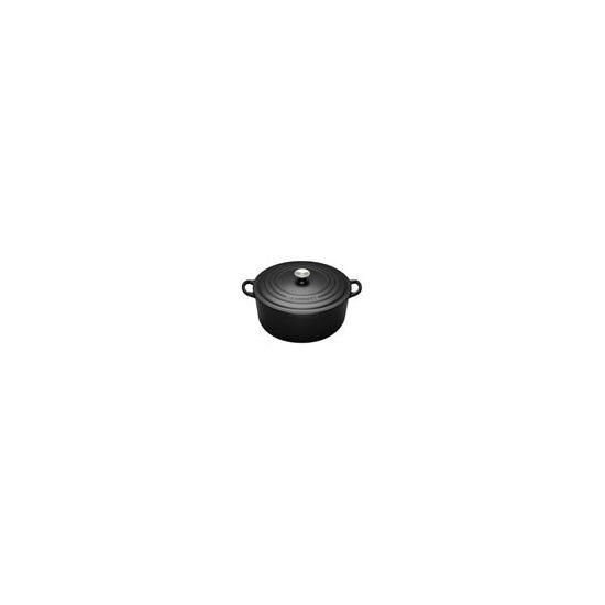 Le Creuset Round Casserole Dish - 22cm - Satin Black