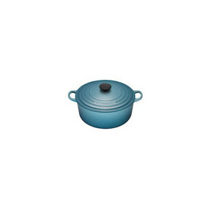Photo of Le Creuset Round Casserole Dish - 26CM - Teal Cookware