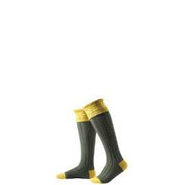 Hunter Royal Socks in Moss Green and Gold - Small Reviews