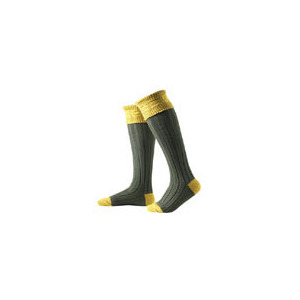 Photo of Hunter Royal Socks In Moss Green and Gold - Small Sock