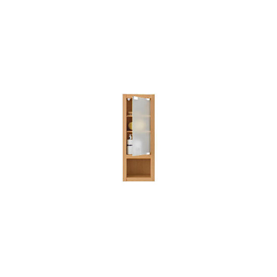 Beech Slim-line Wall Cabinet