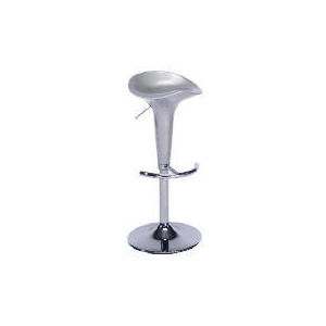 Photo of Rocco Plastic & Chrome Barstool, Silver Furniture