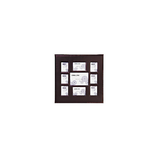 Padded faux leather frame 9 aperature