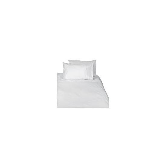 Tesco Pintuck Double Duvet Set, White