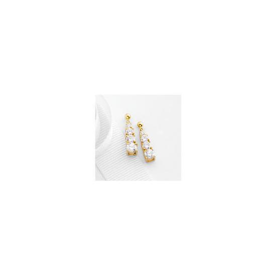 9ct Gold Cubic zirconia Drop earrings