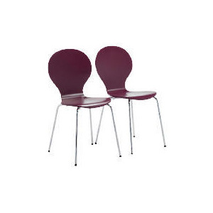 Photo of Pair Of Bistro Stacking Chairs, Claret Furniture