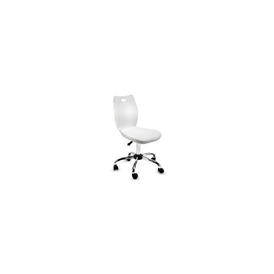 Glacier Acrylic Chair, White Cushion