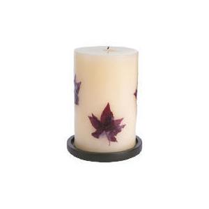 Photo of Tesco Inlaid Candle Autumn Leaves Large Home Miscellaneou