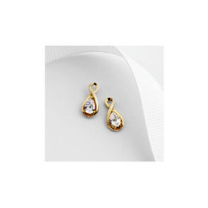 Photo of 9CT Gold Cubic Zirconia Earrings Jewellery Woman