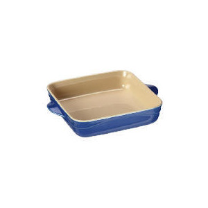 Photo of Le Creuset Curve Stoneware 21CM Square Baking Dish - Mediterranean Blue Kitchen Accessory