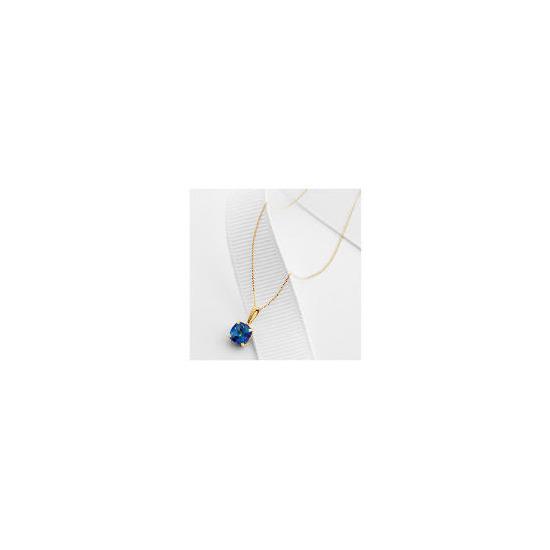 9ct Gold Blue Mystic Topaz Pendant