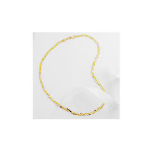 Photo of 9CT 2 Colour Gold Herringbone Necklace Jewellery Woman