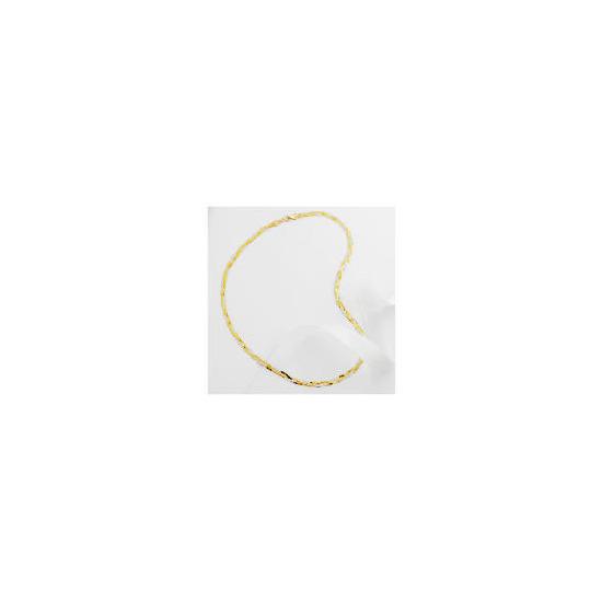 9ct 2 colour gold herringbone necklace