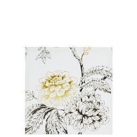 Foiled Flower Printed Canvas 50X50cm Reviews
