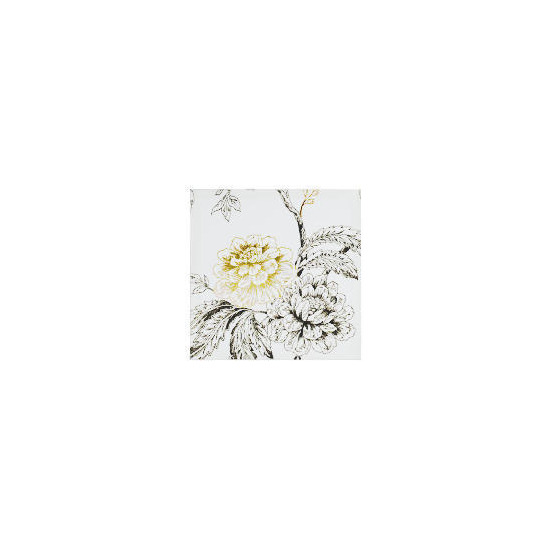 foiled flower printed canvas 50x50cm reviews and prices reevoo