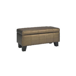 Photo of Midas Ottoman, Metallic Bronze Bedding