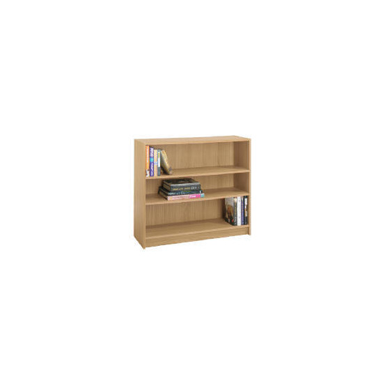 Value 3 shelf 80cm Bookcase, Oak effect
