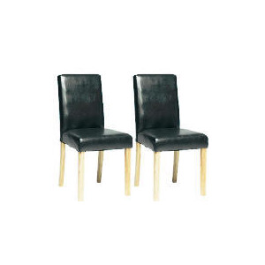 Photo of Pair Of Campania Faux Leather Chairs, Black Furniture