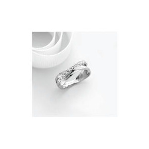 Photo of 9CT White Gold Diamond Ring P Jewellery Woman