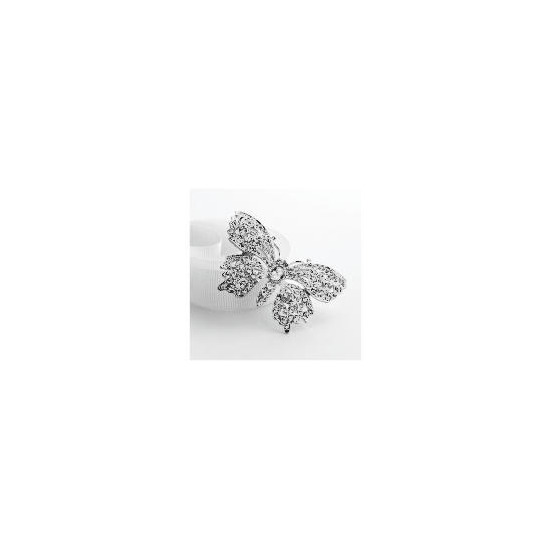 Adrian Buckley Crystal Butterfly Brooch