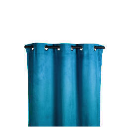 Tesco Faux Suede Unlined Eyelet Curtain, Teal 168x229cm Reviews
