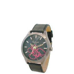 Kahuna ladies black floral stiched dial strap Reviews