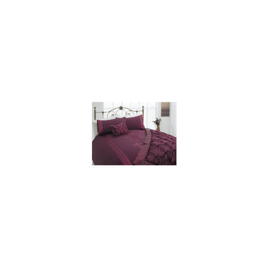 Tesco Applique Double Duvet Set, Plum