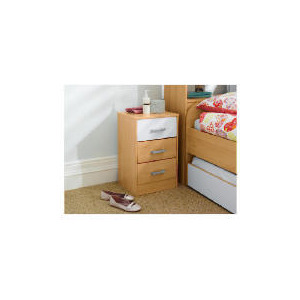 Photo of Shake 3 Drawer Bedside Chest, White Furniture