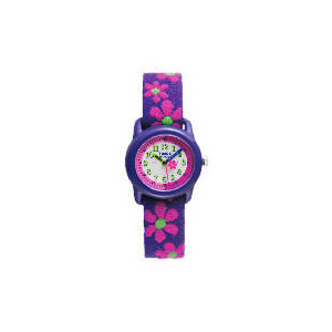 Photo of Timex Girls Purple With Pink Flower Time Tutor Watches Child
