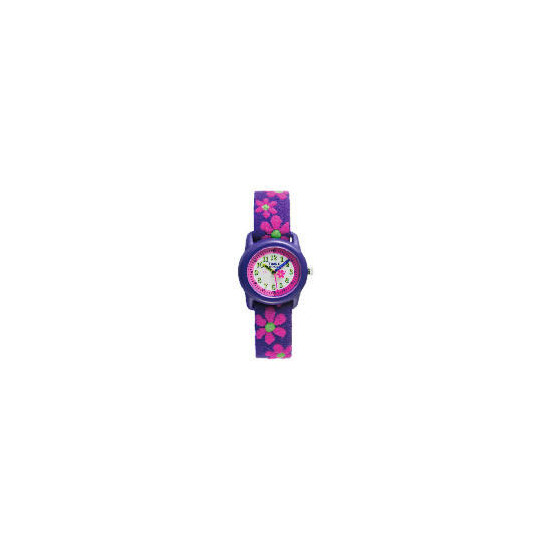 Timex girls purple with pink flower time tutor