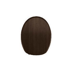 Photo of Chunky Dark Wood Toilet Seat Bathroom Fitting