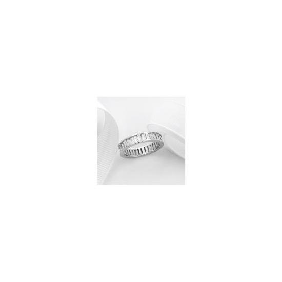 Sterling Silver Cubic Zirconia Ring, Medium