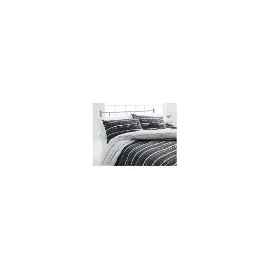 Tesco Sketch King Duvet Set, Black & White