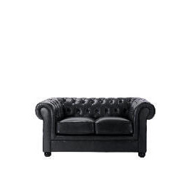 Chesterfield Leather Sofa, Black Reviews